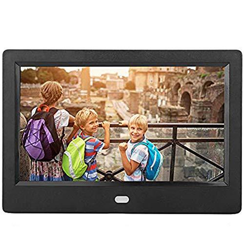 Topiky 7 Zoll Digital Fotorahmen Digitaler Bilderrahmen,HD TFT 1080P 1024x600 LED Elektronisches Bilderalbum,Music/Video/Uhr/Kalender/SD/USB 2.0/USB OTG/AUX-Karte,mit Fernbedienung,Geschenk für Kind