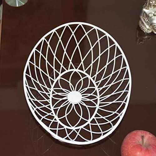 SCDSGJ Cesta for el tazón de Fruta en diseño de Alambre de Acero Inoxidable con un Moderno Plato Decorativo de Fruta de encimera
