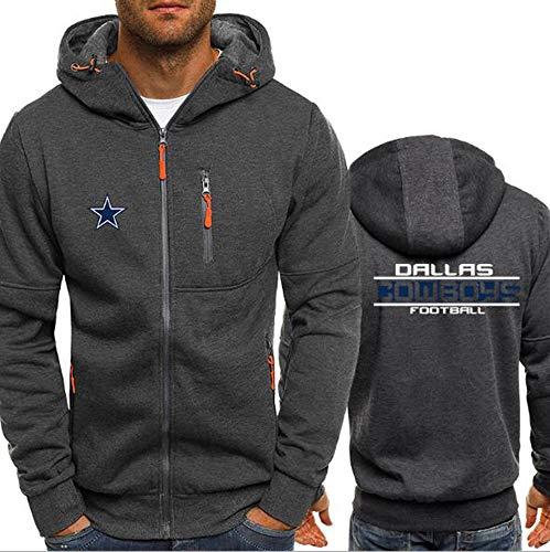 WZ NFL Football Kleidung - Dallas Cowboys Micro Velvet Warm Langarm-Zipper-Shirt, Hoodie Für Männer Und Frauen Herbst Und Winter,2XL