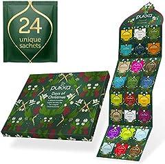 Idea Regalo - Pukka Calendario dell'Avvento 2020, Calendario dell'Avvento non di Cioccolata, l'Ottimo Calendario dell'Avvento per gli Amanti del Tè e delle Tisane, 24 Bustine