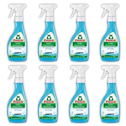 Frosch Soda Allzweck-Reiniger,Haushaltsreiniger, Sprühflasche 8er Pack (8 x 500 ml)