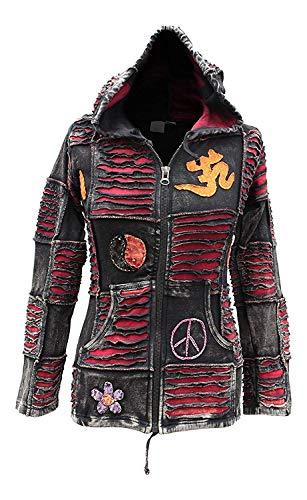 Shopoholic Mode Damen OM Frieden spitz mit Kapuze Gothik Damen ausser - Rot, 3XL