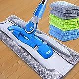 Sistema de limpieza del piso Microfibra plana de Spin Mop Mop Mop y mojado Heavy Duty Floor Mop Mop de aluminio ajustable de la manija del acero inoxidable de 3 húmedo y secar la ropa Sistema de limpi