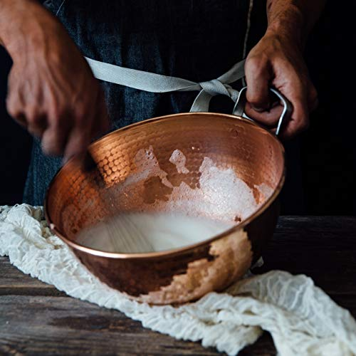 Sertodo Copper Handled Mixing Bowls, 3 piece set, 100% pure copper