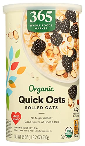365 Everyday Value, Organic Quick Oats, 18 oz
