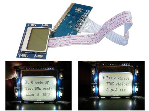 Kalea Informatique© – PCI POST CARD - 2 LCD SCREEN - DEBUG TOOL - PCI Motherboard Test Post Analyzer Reparatur Debug Diagnose Karte Card für PC