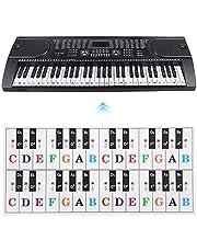 Transparante Key Paster, Intonatie Symbolen Nummers Kleurrijke Piano Sticker voor Piano voor Beginners