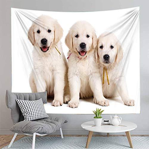 shuimanjinshan Pintura Animales Perros y Perro Pug Tapiz Colgante de Pared decoración de la Sala de Estar decoración del hogar 150X200Cm