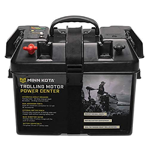 Minn Kota 1820175 Trolling Motor Battery Power Center Marine Battery Accessory