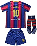 Da Games Youth Sportswear 10 Kids Home Soccer Jersey/Shorts Football Socks Set (Navy, 8-9 YEARS OLD)