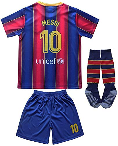 Da Games Youth Sportswear 10 Kids Home Soccer Jersey/Shorts Football Socks Set (Navy, 10-11 YEARS OLD)