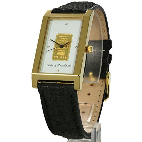 Lindberg & Goldmann Armbanduhr Analog mit Goldbarren u706eb