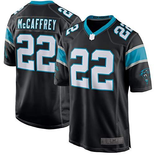 Black - Panthers American Football Trikot McCaffrey Rugby Jersey Carolina Atmungsaktiv Christian Kurzarm #22 Player Jersey - XXL