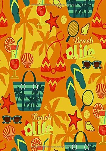 Beach life: Farbenfrohes Strand Notizbuch im Sommerdesign