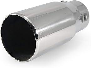 Universal 0167 Punta de escape del coche Tubo extremo de ajuste Silenciador deportivo Acero inoxidable Cromo