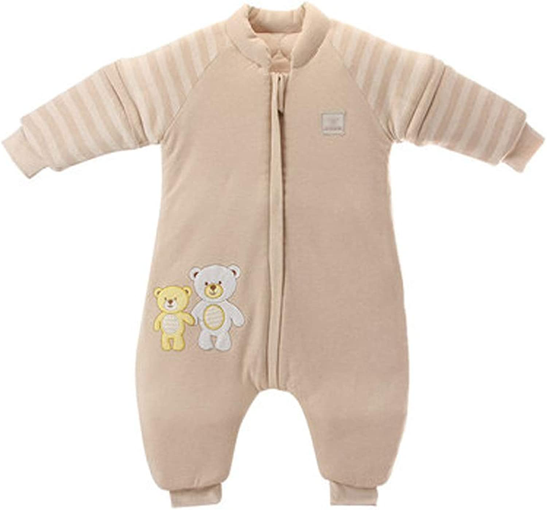 AUGAUST Baumwolle Baby Schlafsack Baby Winter dicken dicken dicken Schlafsack Anti-Kick-Schlafsack (Farbe   Beige, größe   L) B07KN3MV1K  Aktuelle Form 524017
