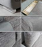 Schlafsofa Naki - Sofa mit Schlaffunktion und Bettkasten, Bettsofa, Couchgarnitur, Couch, Sofagarnitur, Bett (Schwarz + Grau (Alova 04 + Berlin 01)) - 2