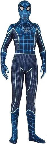 Hope Erwachsene Fear Wars Spider-Man Cosplay Kostüm Siamese Strumpfhosen Halloween Kostüm Jumpsuit Onesies Blau Druck Hoodie,Blau-S
