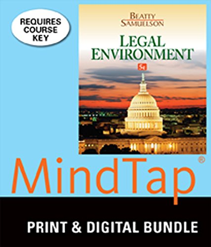 Download Bundle: Legal Environment, 5th + Student Guide to Sustainabillity, Law, and Ethics + MindTap Business Law, 1 term (6 months) Printed Access Card 1305436067