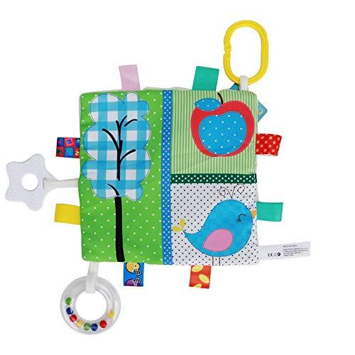 Comfortabele babydeken met kleurrijke tags, superzachte, vierkante pluche doek voor kleine kinderen #4
