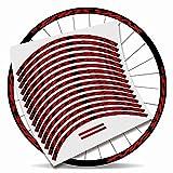Kit Pegatinas Bicicleta Stickers LLANTA Mavic Crossmax Pro 29'' MTB BTT B (Rojo)