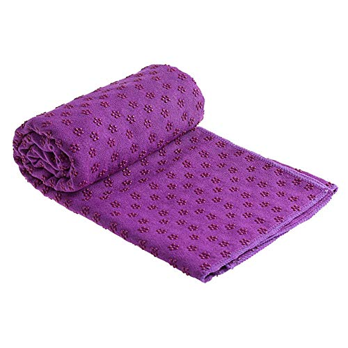 Strimusimak - Manta antideslizante para pilates y yoga, color morado