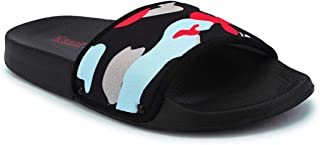 KazarMax Boy's Black Visor Sliders Flip-Flops