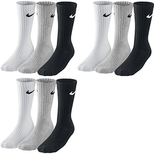 Nike Herren|Damen Socken Sx4508 001, Schwarz - Weiß - Grau, S