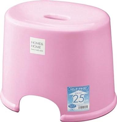 リス 風呂椅子 高さ 25cm パステルピンク H&H『防カビ加工』 日本製