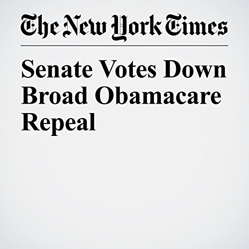 Senate Votes Down Broad Obamacare Repeal copertina