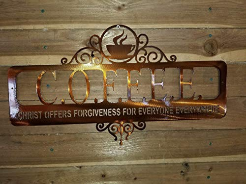 C.O.F.F.E.E.-Cup: Christ Offers Forgiveness for Everyone Everywhere: sign Wall Decor