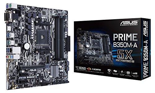 Asus AMD AM4 B350 mATX - Placa base, DDR4 3200MHz, 32Gb/s M.2, HDMI, SATA 6Gb/s, USB 3.1