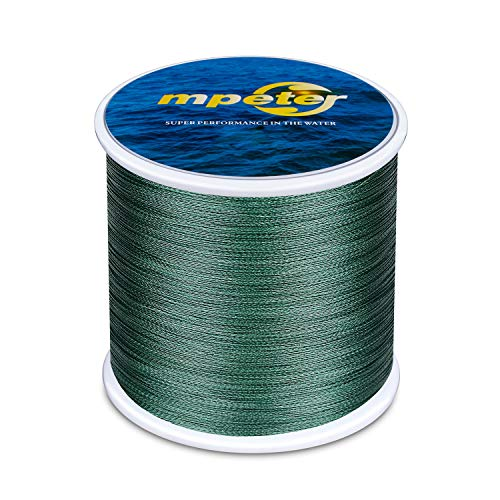 mpeter Armor Braided Fishing Line, Abrasion Resistant Braided Lines, High Sensitivity and Zero Stretch, 4 Strands to 8 Strands with Smaller Diameter...
