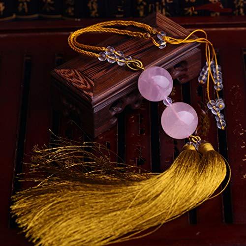 LXYFMS - Colgante de Coche de Alta Gama con Bola de Cristal en Polvo Morado para Colgar en el Coche, diseño de espíritus malvados, Varios tamaños