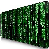 Sidorenko XXL Gaming Mauspad | 900 x 400mm | Mousepad | spezielle Oberfläche verbessert Geschwindigkeit und Präzision | Fransenfreie Ränder | rutschfest | Grün