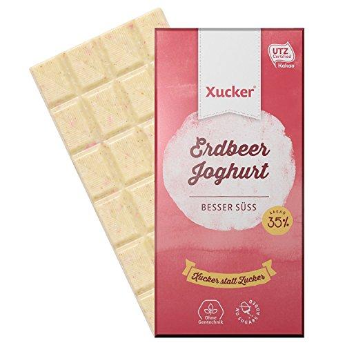 Xucker - 10er Set Erdbeer Joghurt Xylit-Schokoladen Tafeln (10 x 100 g)