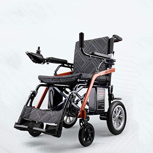 HYRL Silla de Ruedas eléctrica Plegable Ultra portátil, Silla de Ruedas Scooter de Movilidad Personal, Viaje en avión Aprobado, para Adultos/Ancianos/discapacitados