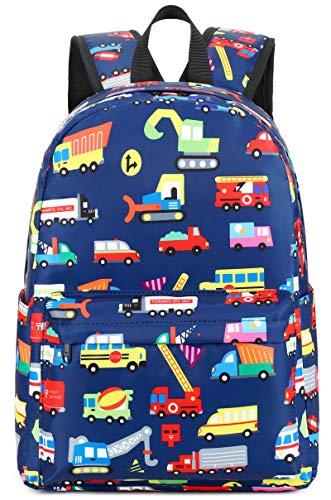 Preschool Backpack Kids School BookBags for Boys Girls Kindergarten Toddler School Bags (Truck Navy)