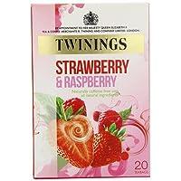 英国トワイニングス ストロベリー&ラズベリー 20ティーバッグ入り Twinings Strawberry & Rasberry 20 teabags【海外直送品】 [並行輸入品]