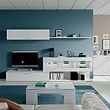 Habitdesign 036676BO-Mueble de Comedor, Mueble Salon con Leds, Medidas: 260 x 84 x 41 cm de Fondo (Blanco Brillo)