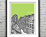 AZSTEEL Utrecht Netherlands City Skyline Poster Art Print |