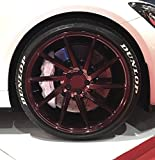 Finest-Folia 4 x Tire Style Reifenaufkleber - Dunlop Reifenschrift Aufkleber (Weiß, 19 Zoll)