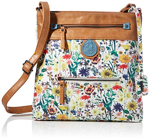 Rieker Handtasche, Bolsa de noche para Mujer, Multicolor (weiss-multi/natur), 280x50x280 centimeters (B x H x T)