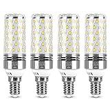 Vicloon Bombilla LED E14, E14 LED Frío 12W Equivalente Lámpara Halógena De 100W, Blanco Frío 6000K,1400LM, Angulo de haz de 360, Bombilla LED E14 LED Maíz, No Regulable, AC100-240V, 4 Unidades