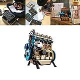 Aikeec Kit de Modelo de Motor Metal ensamblado Kit de Modelo de Motor de Gasolina en línea de Cuatro Cilindros Mini Coche Educación Juguete Regalo de cumpleaños