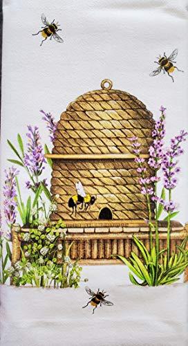 Mary Lake Thompson Lavender Bee Skep Dish Towel