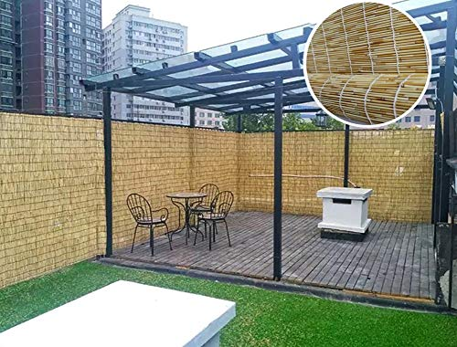 Sonnenschutznetz Garten Sichtschutz/Natural Reed Roll Fencing/Wandschutz Schattenvorhang, Wind- und Schattenschutz für Balkon/Markise/Pergola, 70% Beschattungsrate (Size : W125cm×H200cm)