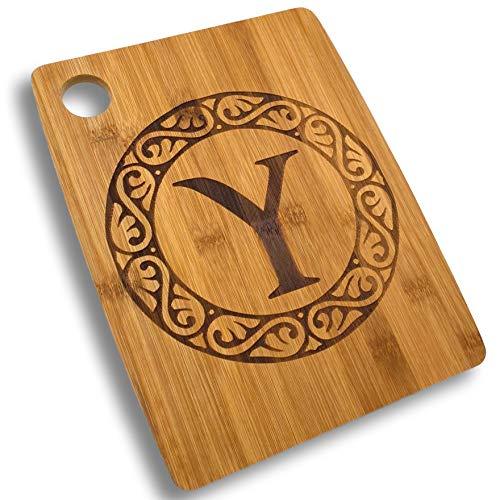 Custom Catch Personalized Cutting Board - Custom Bamboo Gift - Letter...