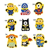 Iron On Patches - DIY Sew Decoration Appliques Stickers Embroidery Patches Cloth, Repair The Hole Stick (9 Pcs Minions)