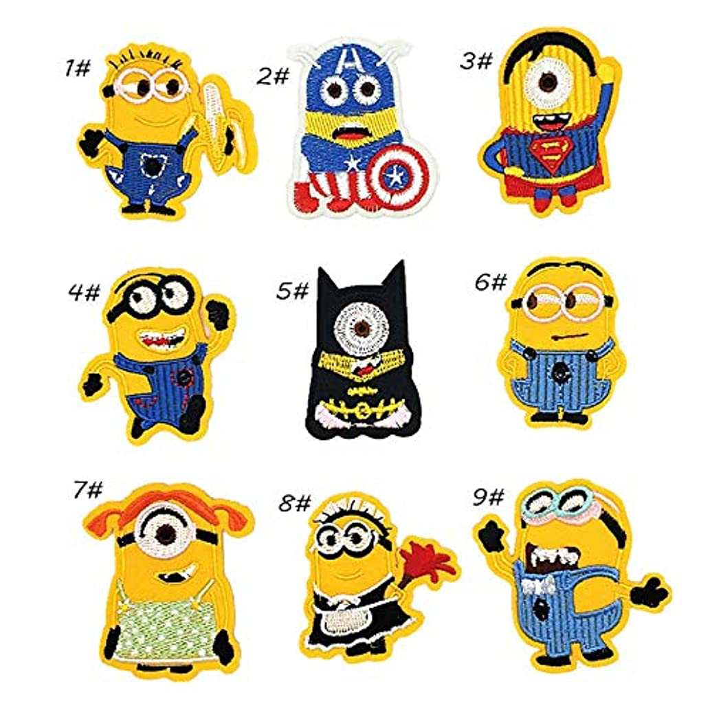 Iron On Patches Applique Decoration DIY Patch or Repair (G Style Minions)